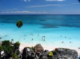 Baños en el Mar Caribe