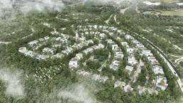 Vista aérea del condominio
