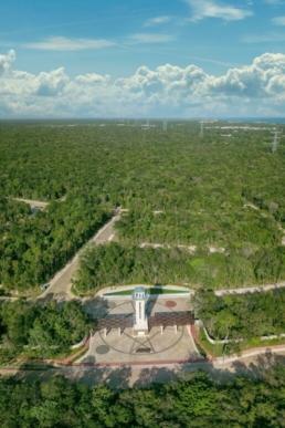 Entrada Senderos Norte vista aérea
