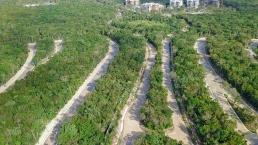 Vista aérea de urbanización Senderos