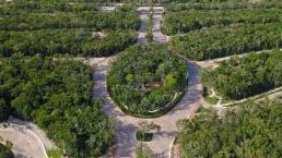 Vista aérea de parque en Senderos