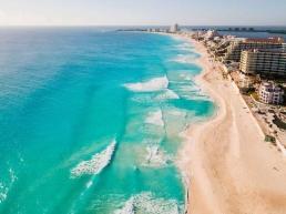ciudad de Cancun, una de las preferidas en el Caribe por los turistas del mundo