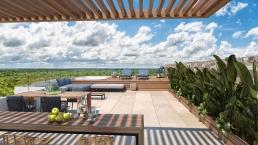 Terraza Con Vista Desde Edificios De Ciudad Mayakoba En Downtown